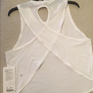 Lululemon Fast as Light Tank Frilled NWT size 12